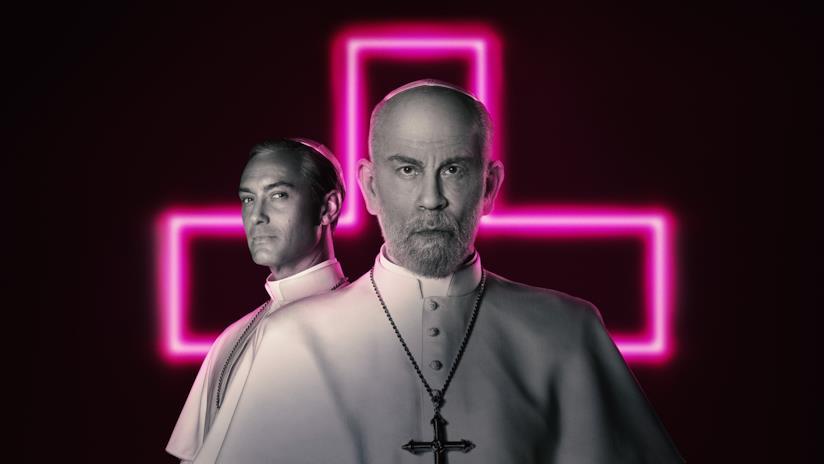 John Malkovich e Jude Law nel poster promozionale di The New Pope