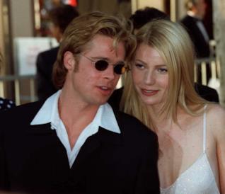 Brad Pitt e Gwyneth Paltrow negli anni '90