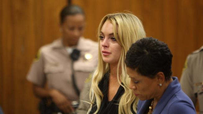 L'attrice Lindsay Lohan in manette