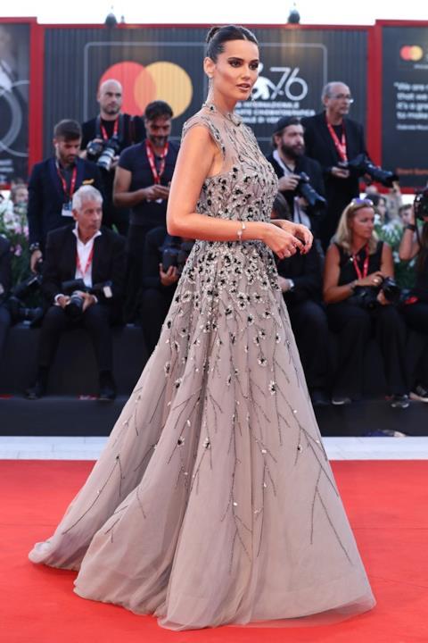 Catherine Poulain sul red carpet a Venezia 2019