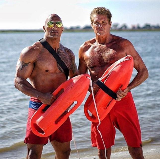 Baywatch: The Rock e David Hasselhoff