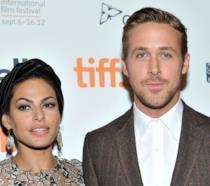 Primo piano di Ryan Gosling e Eva Mendes
