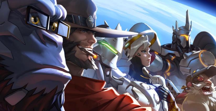 Un artwork mostra i personaggi di Overwatch