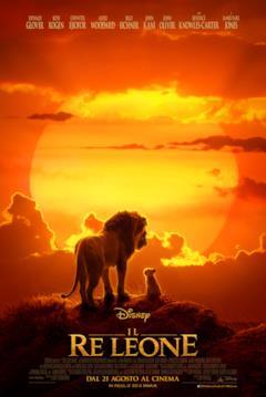 Simba e Mufasa di fronte al sole