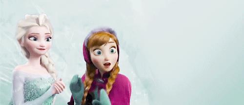 Anna ed Elsa in una GIF di Frozen