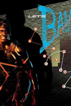 Nightcrawler nel poster con la grafica uguale a Let's Dance di Bowie