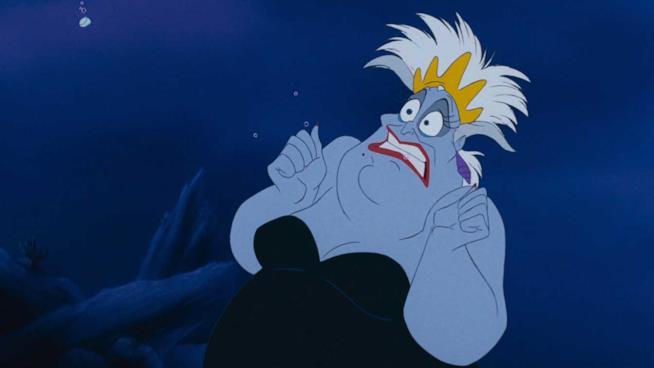 Il personaggio di Ursula nel cartone La Sirenetta