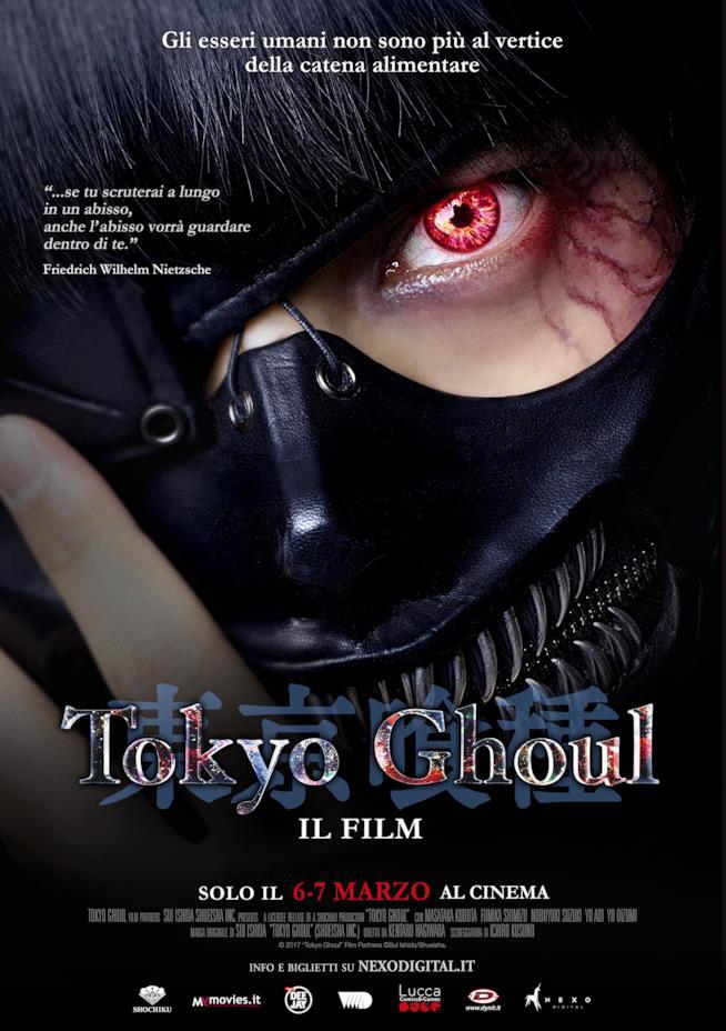 Ken Kaneki sul poster del film di Tokyo Ghoul