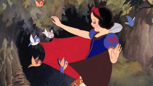 Una scena tratta da Biancaneve e i Sette Nani