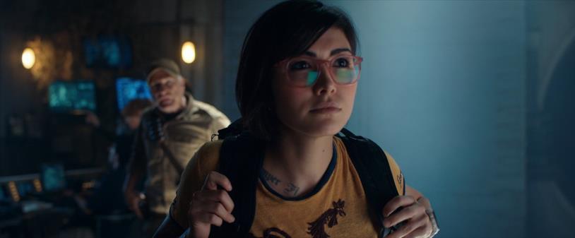 Una scena del film con il personaggio di Zia Rodriguez