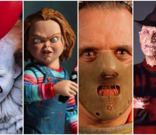 Un collage di icone del terrore