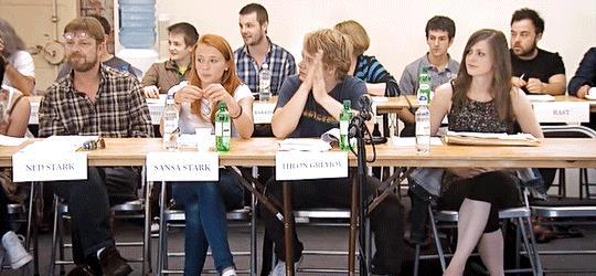 Sean Bean, Sophie Turner e Alfie Allen sono Ned, Sansa e Theon