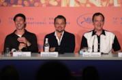 Pitt, DiCaprio e Tarantino in una conferenza stampa
