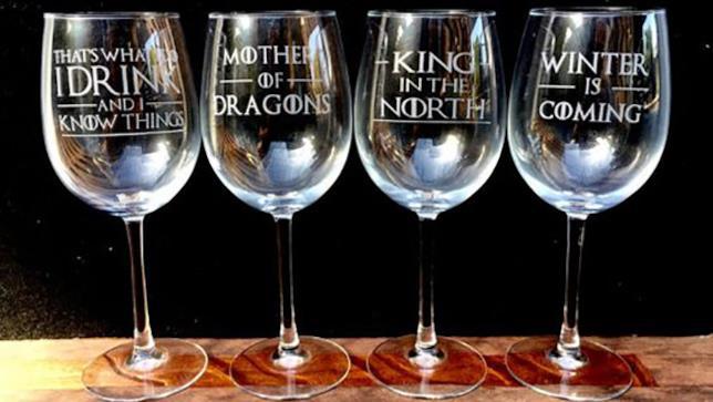 Bicchieri da vino di Game of Thrones