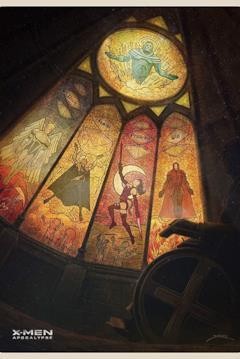 I quattro cavalieri di Apocalisse in stile sacro