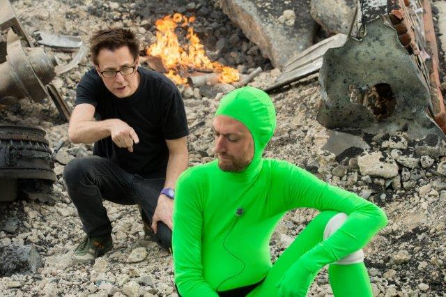 James Gunn sul set di Guardiani della Galassia