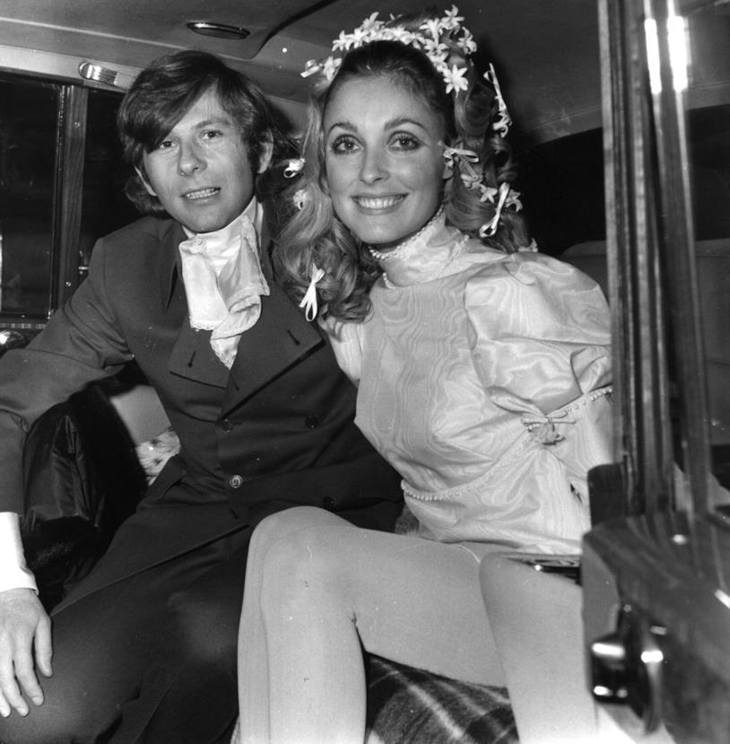 Foto di nozze: Roman Polanski con la moglie Sharon Tate
