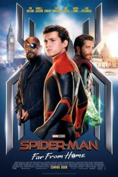 Peter, Nick e Mysterio nel poster UK di Far From Home