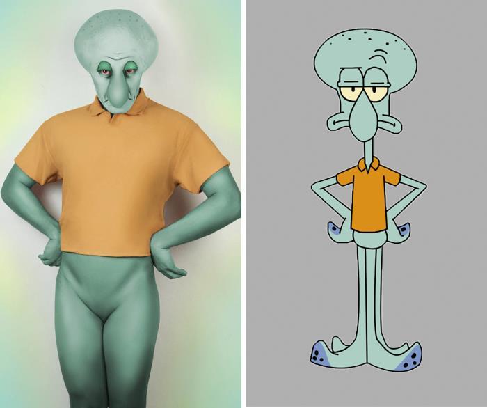 J Stryker si è trasfromato in Squiddi Tentacolo del cartoon SpongeBob