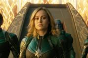 Un primo piano di Brie Larson in Captain Marvel