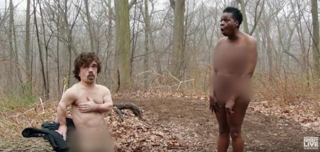 Peter Dinklage e Leslie Jones in Naked and Afraid: Celebrity Edition