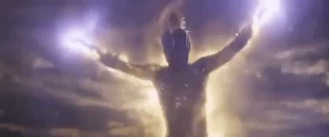 Carol Danvers prende il volo, in una scena di Avengers: Endgame