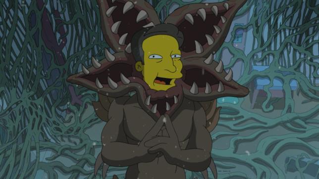 Il capo di Netflix Ted Sarandos nei panni del Demogorgone nell'episodio de I Simpson