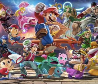 Key art del roster di Super Smash Bros. Ultimate