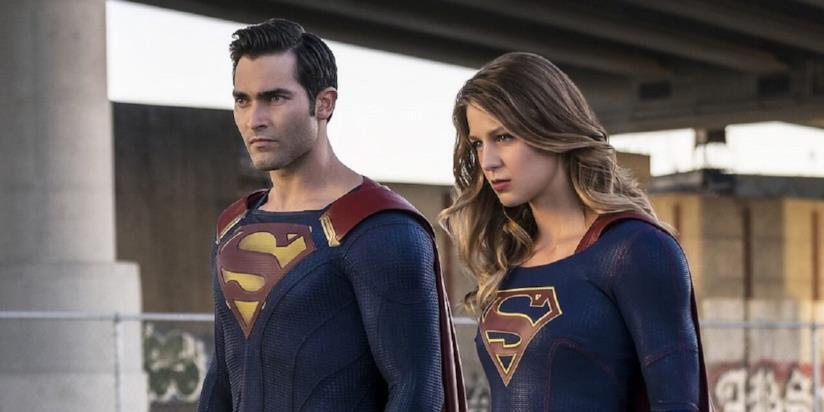 Superman e Supergirl nella serie TV Supergirl