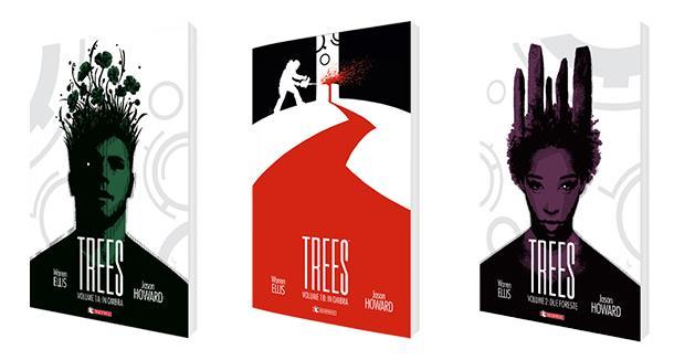 Cover dei tre volumi di Trees