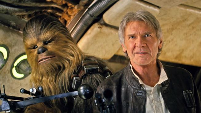 Primo piano di Harrison Ford in Star Wars