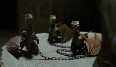 un'immagine dei tre draghi di Daenerys in Game of Thrones