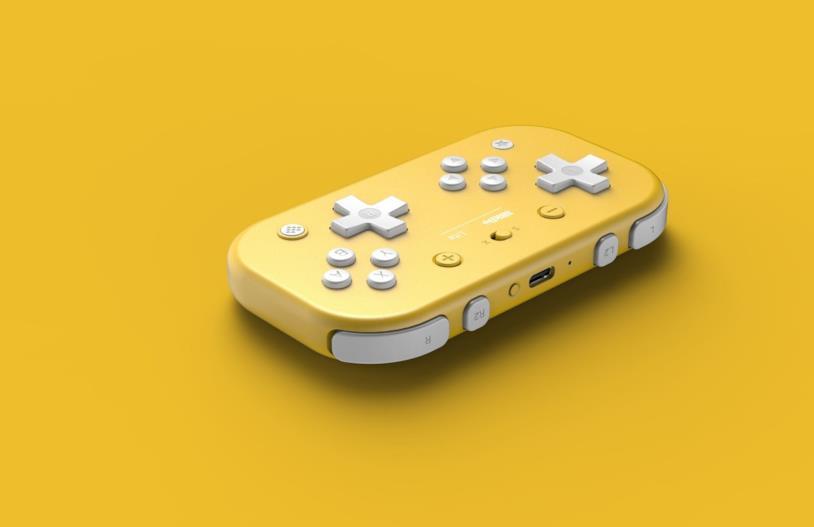 Il controller giallo ispirato a Nintendo Switch Lite