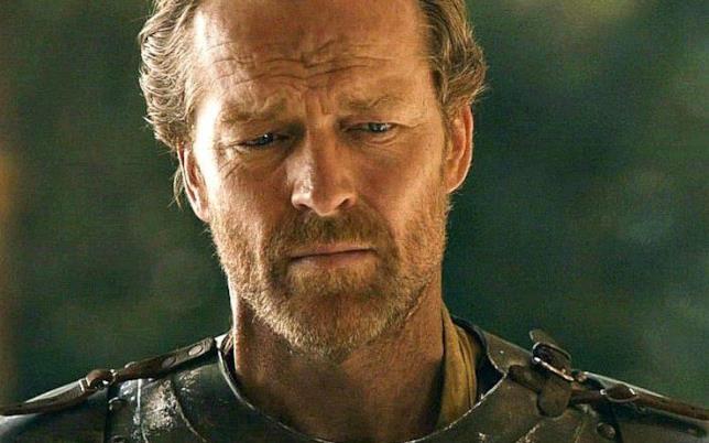 Lo sguardo serio di Jorah Mormont