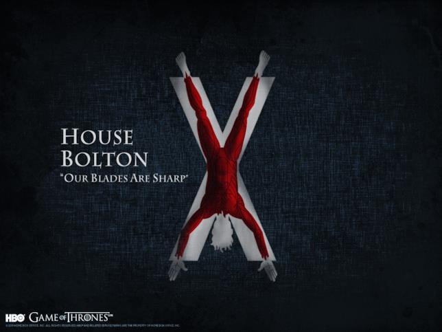 Il motto e lo stemma di Casa Bolton