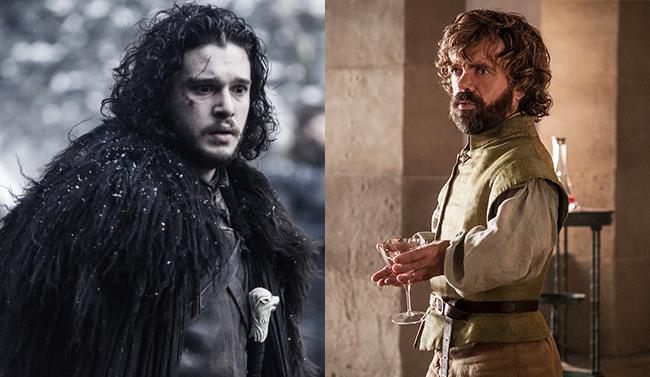 Tyrion e Jon Snow in Game of Thrones