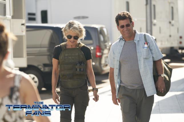 Linda Hamilton più badass che mai sul set di Terminator 6