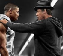 Michael B. Jordan e Sylvester Stallone in una scena di Creed - Nato per combattere