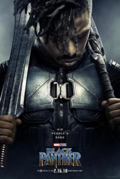 Michael B. Jordan è Erik Killmonger nel character poster del film Black Panther