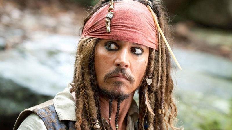 Jack Sparrow, personaggio interpretato da Johnny Depp