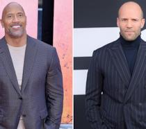 Dwayne Johnson e Jason Statham sul red carpet