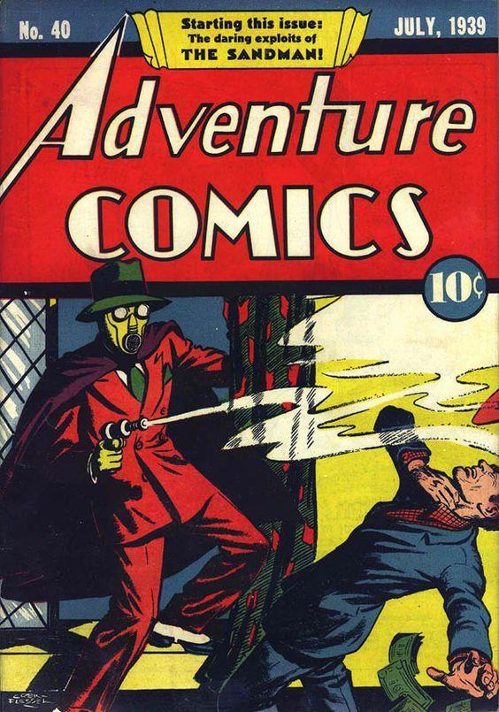 Copertina di Adventure Comics #40 con Sandman