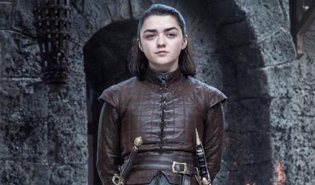 Arya nella settima stagione di Game of Thrones