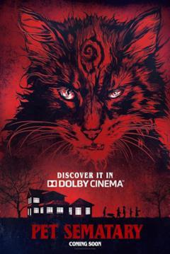 Il gatto di Pet Sematary nella locandina per i cinema Dolby
