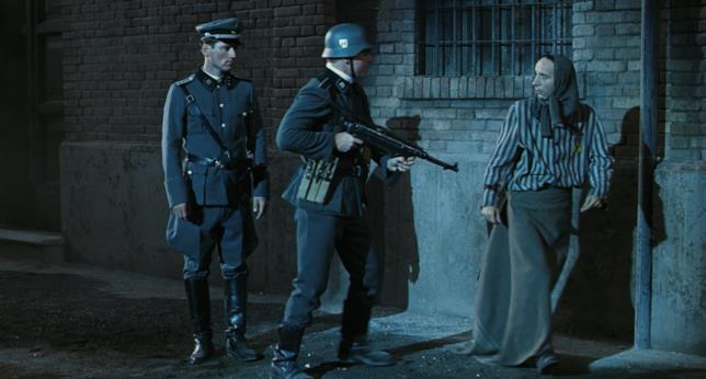 Roberto Benigni nell'epilogo de La vita è bella