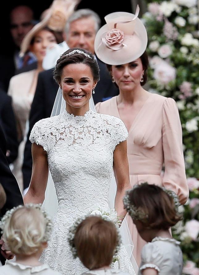 Pippa Middleton durante il suo matrimonio