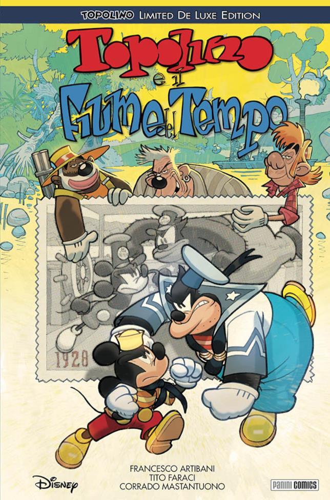 La cover di Topolino e il fiume del tempo