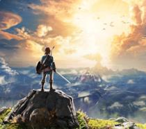 Link in cima ad una montagna in The Legend Of Zelda: Breath Of The Wild