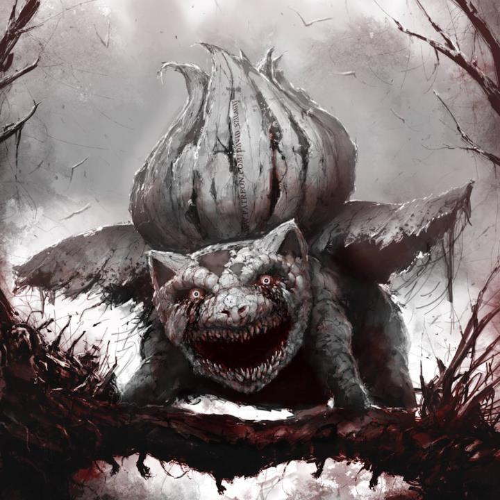 Ivysaur in versione horror