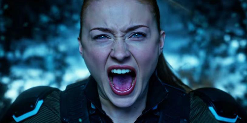 Sophie Turner in una scena di X-Men: Apocalisse
